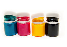 CMYK paint can Stock Images