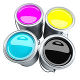 CMYK paint can Royalty Free Stock Photos