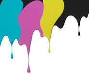 Cmyk paint. Paint drips of cmyk, use as background Royalty Free Stock Images