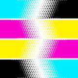 CMYK paint stripes in vector. White background Royalty Free Stock Photo