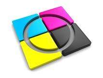 Cmyk Palette Stockbilder