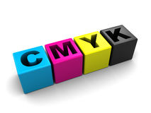 Cmyk palette Stock Photo