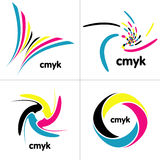 Cmyk palette Royalty Free Stock Photo
