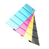 CMYK palette plates isolated Stock Images