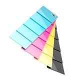 CMYK-Palettenplatten lokalisiert Stockbilder