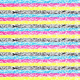 CMYK pastel crayon striped background Stock Image