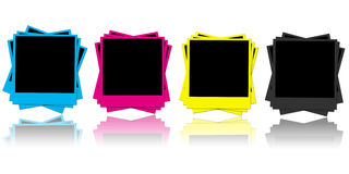CMYK photo frames Stock Photos