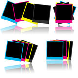 CMYK photo frames Royalty Free Stock Photos