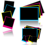 CMYK photo frames Stock Image