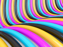 CMYK pipelines background. CMYK pipelines abstract colored background Royalty Free Stock Photo