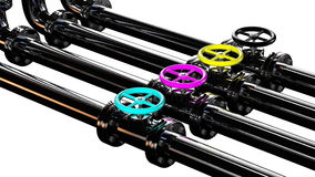 Cmyk pipes Royalty Free Stock Photography