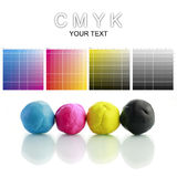 CMYK Plasticine stock photography