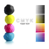CMYK Plasticine Stock Photo