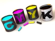 CMYK. Polygraphy. Stock Photos