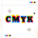 CMYK poster Royalty Free Stock Photo