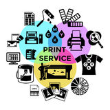 CMYK Print Service Composition stock illustration