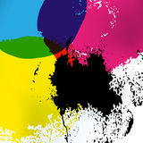 CMYK print service drawing background Royalty Free Stock Photography