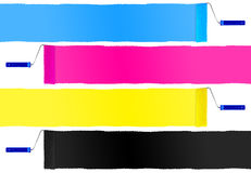 CMYK print symbol set of paint roller Royalty Free Stock Image