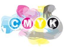 CMYK Printer's Inks Stock Image