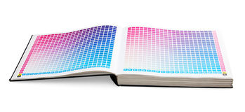 CMYK printing color guide book Stock Image