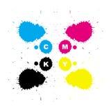Cmyk printing colors Stock Photos
