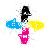 cmyk Printing colour Stock Images