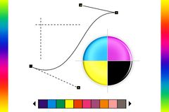 CMYK printing mark Stock Photography
