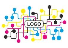 cmyk proces, reclame, pers, agentschap, druk royalty-vrije illustratie