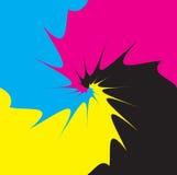 CMYK process mix. As vector illustration stock illustration