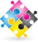 Cmyk puzzle Stock Image