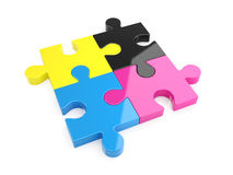 CMYK puzzle Stock Photography