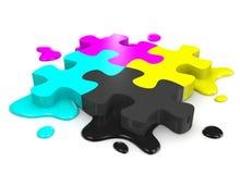 CMYK Puzzle Stock Photo