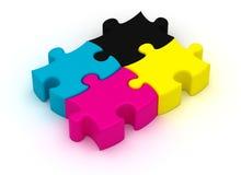 CMYK Puzzle Royalty Free Stock Image