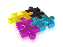 CMYK. Puzzle. Stock Photography