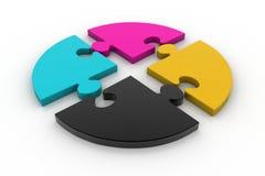Cmyk puzzles Stock Photography