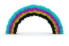 CMYK rainbow Stock Image