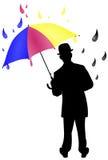CMYK Regenschirm-Abbildung lizenzfreies stockbild