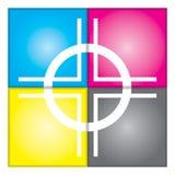 CMYK-registreringsfläck Arkivfoto