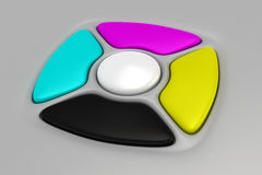 CMYK remote control Stock Photo