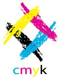Cmyk retro border Royalty Free Stock Photo