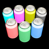 CMYK and RGB cans Royalty Free Stock Image