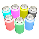 CMYK and RGB cans Stock Image