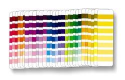 Cmyk rgb de la muestra del color Imágenes de archivo libres de regalías