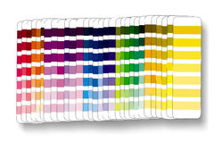 Cmyk rgb del campione di colore Immagini Stock Libere da Diritti