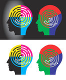 CMYK and RGB modes solutions Stock Photos