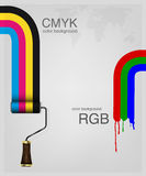 CMYK and RGB vector Royalty Free Stock Images