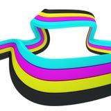 CMYK ribbon Royalty Free Stock Photos