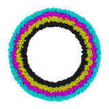CMYK round frame Royalty Free Stock Photography