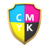 CMYK shield Stock Image