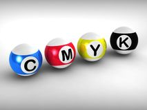 Cmyk Shows Printing And Printer Ink Royalty Free Stock Image